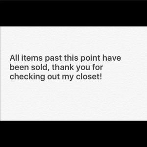 All items past this point have been sold!